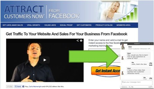 win customers - online chat