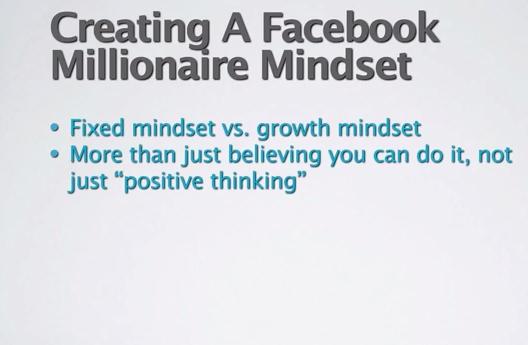 facebook millionaire mindset