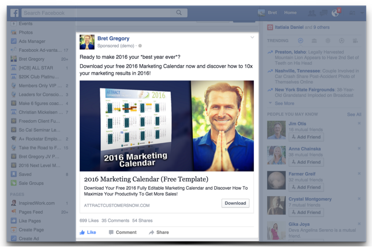 03 Facebook Ad Placement - Attract Customers NowAttract Customers Now